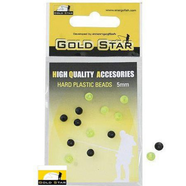 Бусинка Gold Star Hard Plastic Beads 3mm