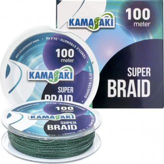 Шнур Kamasaki Super Braid 0,10mm 100m 7,60kg