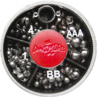Набор грузиков Dinsmores 4 Compartment Round Mini Split Soft Lead Shot 40g.