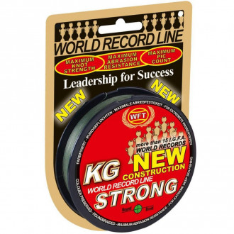 Шнур WFT KG NEW STRONG GREEN 0,25mm 300m 39kg