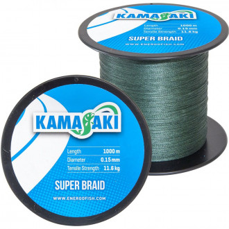 Шнур Kamasaki Super Braid 0,10mm 1000m 7,60kg