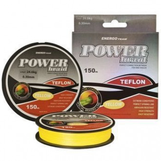 Шнур ENERGOTEAM POWER BRAID TEFLON 0,40mm 150m 35,50kg Yellow